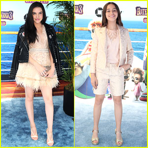 Lilimar & Sky Katz Wear Similar Colored Outfits to 'Hotel Transylvania 3' Premiere
