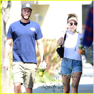 Liam Hemsworth & Miley Cyrus Grab Some Green Juices to Go
