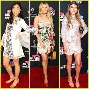 Mirai Nagasu, Witney Carson & Elle Winter Bring Florals to Radio Disney Music Awards 2018