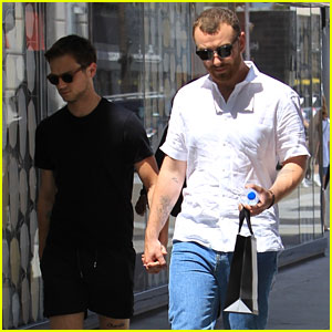 Sam Smith & Brandon Flynn Step Out for a Day of Shopping