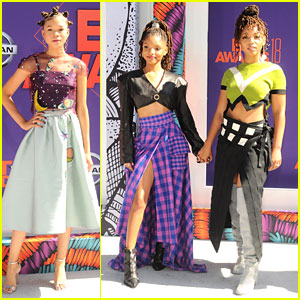 Storm Reid & Chloe X Halle Brighten Up The Carpet at the BET Awards 2018