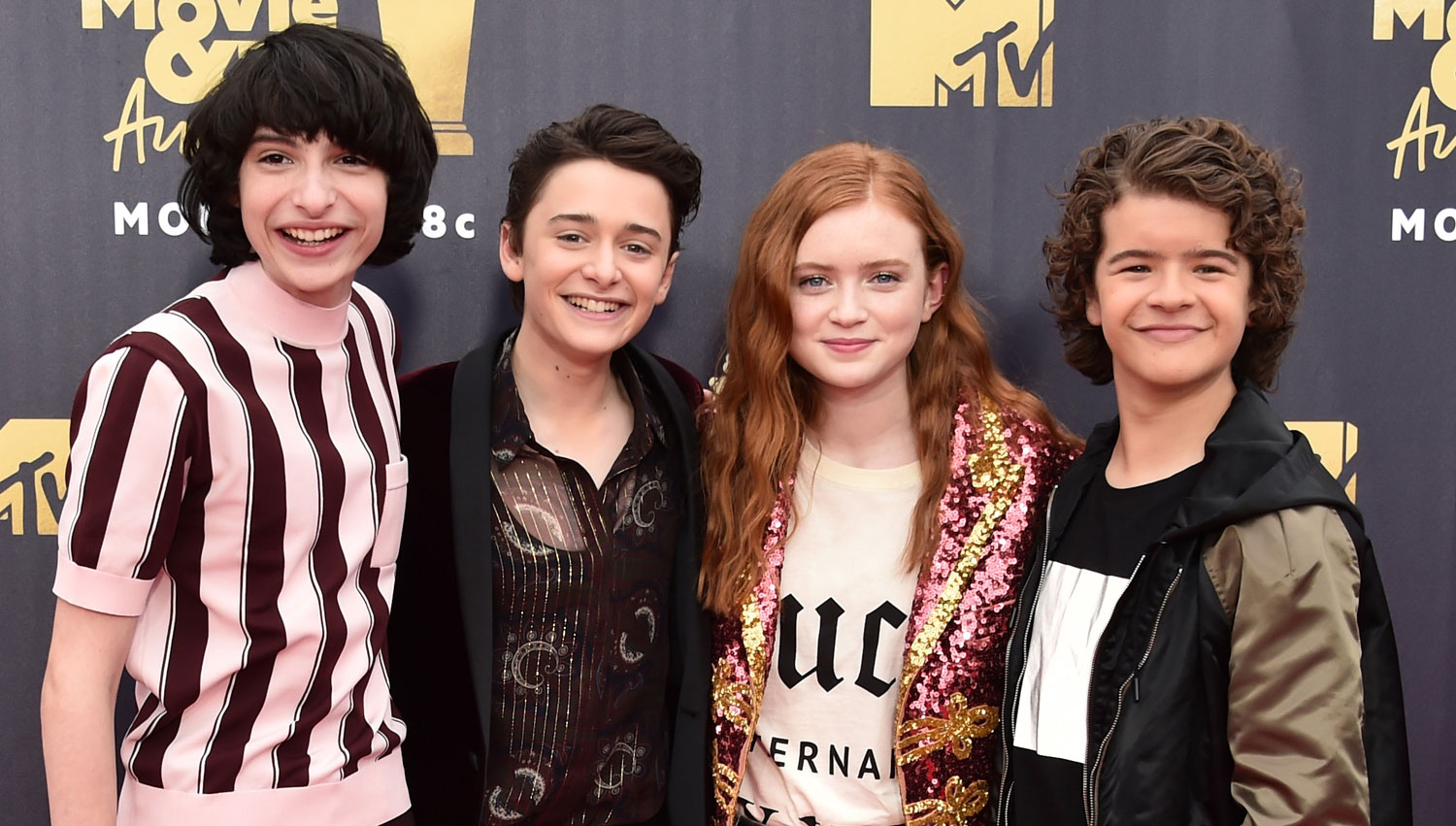 'Stranger Things' Kids Attend MTV Awards Sans Millie Bobby Brown - 2018 MTV Movie & TV Awards, Dacre ...