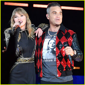 Taylor Swift Brings Special Guest Robbie Williams on Stage at 'Reputation' Show in London!