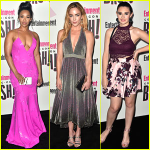 Candice Patton, Caity Lotz, & Nicole Maines Represent Their DC Shows at 'EW' Comic-Con Bash