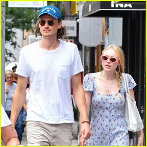 Dakota Fanning Wears Cute Sundress in NYC Alongside Henry Frye