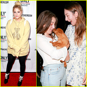 Meghan Trainor & Haim Sisters Support a Good Cause at Poker Tournament