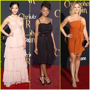 Jenna Ortega & Skai Jackson Glam Up For 'Christopher Robin' Premiere
