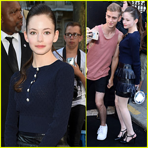 Mackenzie Foy Snaps Selfies With Fans Before Vogue Foundation Dinner in Paris