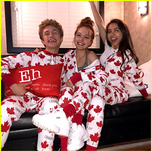 Sadie Stanley & 'Kim Possible' Co-Stars Go All Out For Canada Day