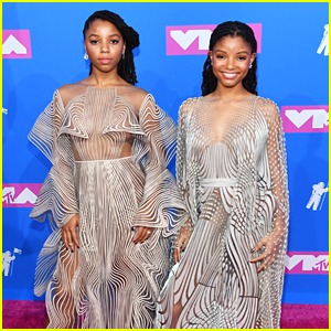 Chloe x Halle's Sheer Gowns Will Make You Dizzy at MTV VMAs 2018