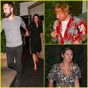 Ed Sheeran & Fiancee Cherry Seaborn Go On Double Date with 'Friends' Actress!