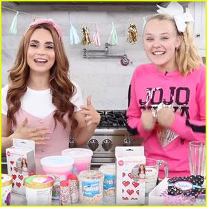 JoJo Siwa Teams Up With Rosanna Pansino to Make Crazy Milkshakes - Watch Now!