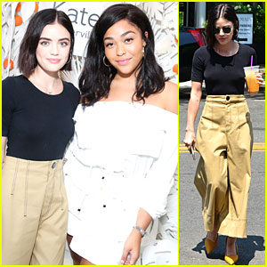 Lucy Hale & Jordyn Woods Attend New Kate Somerville Skincare Product Launch