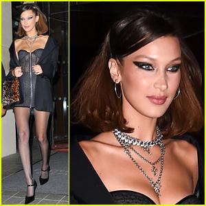 Bella Hadid Rocks Cat-Eye Makeup to Host Late Night Party in Paris!