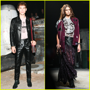 Tommy Dorfman & Kaia Gerber Look Chic at Coach Show During New York Fashion Week!