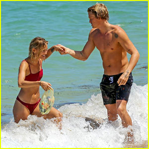 Cody Simpson Shows Off Shirtless Body with Girlfriend Clair Wuestenberg in Bali