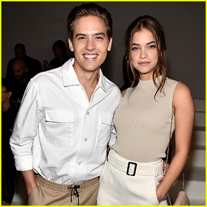 Dylan Sprouse & Barbara Palvin Match Their Looks at BOSS Fashion Show During NYFW