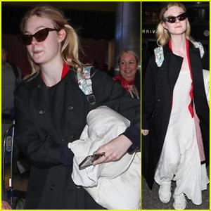 Elle Fanning Makes Her Way Back to LA Attending Film Festival in France!