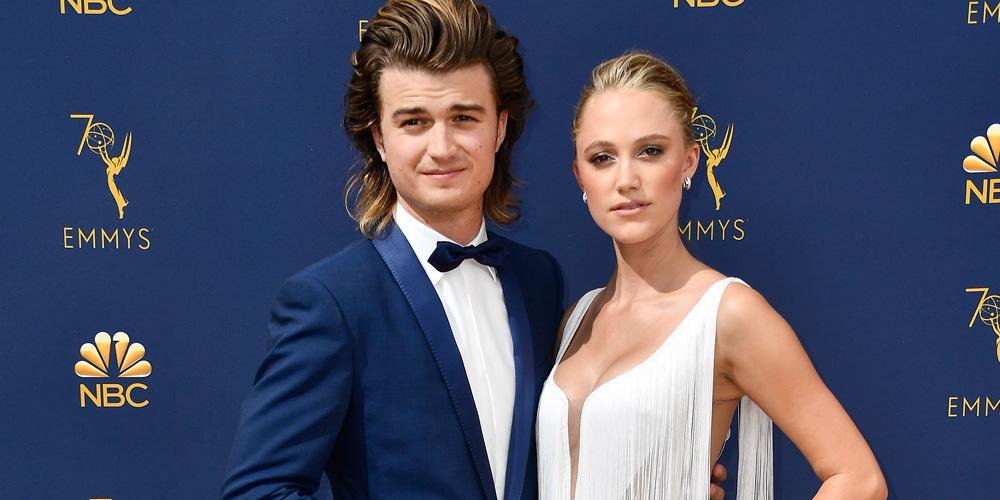 Joe Keery & Maika Monroe Make One Stunning Couple at Emmy Awards 2018