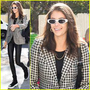 Kaia Gerber is All Smiles While Gearing Up for Paris Fashion Week