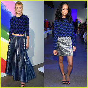 Katherine McNamara & Erinn Westbrook Were Twinning at the Milly Show During NYFW