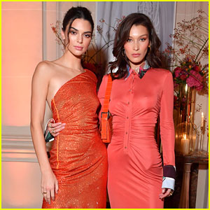 Kendall Jenner & Bella Hadid Slay in Orange Dresses at YouTube's Paris Fashion Week Event