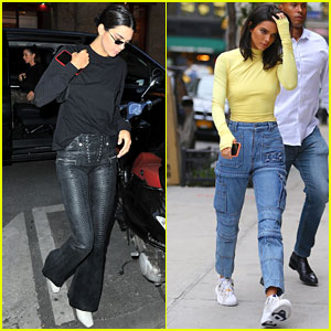 Kendall Jenner Grabs Dinner in Paris After Visiting Gigi Hadid in New York City