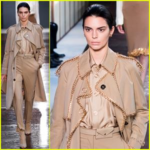 Kendall Jenner Walks Burberry's Runway During London Fashion Week