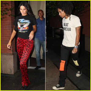 Kendall Jenner Joins Luka Sabbat for a Night Out During Fashion Week in New York City!