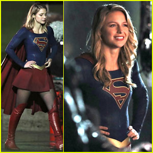 Melissa Benoist Gets Into Character on the 'Supergirl' Set!