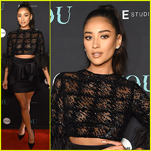 Shay Mitchell is a Beauty in Black at 'You' Series Premiere