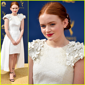 Sadie Sink Is A Vision in White At Emmy Awards 2018