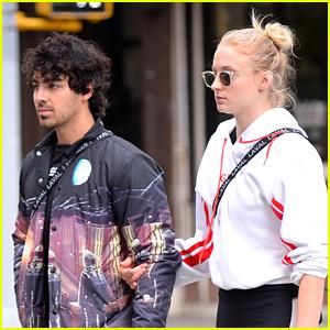 Sophie Turner Holds on Close to Joe Jonas in NYC!