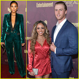 Vanessa Morgan & Shay Mitchell Bring Color To EW's Pre-Emmys Party