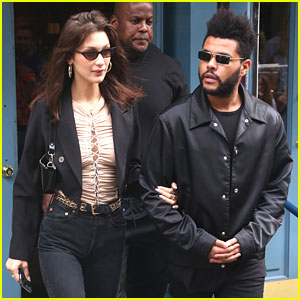 Bella Hadid & The Weeknd Link Arms After Birthday Brunch