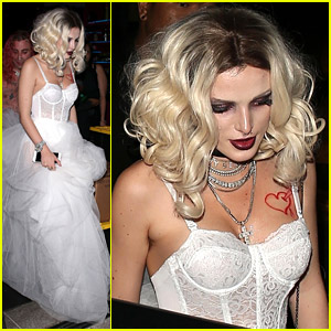 Bella Thorne Dresses Up As Bride of Chucky For Halloween 2018