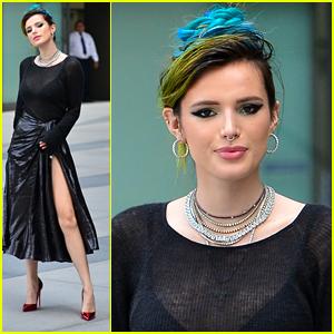 Bella Thorne Rocks Blue Hair For 'I Still See You' Premiere