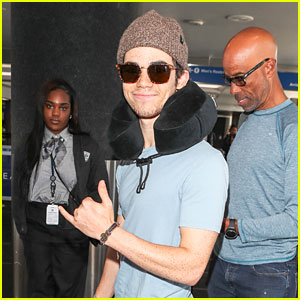 Cameron Boyce is All Smiles While Catching His Flight Out of LAX!