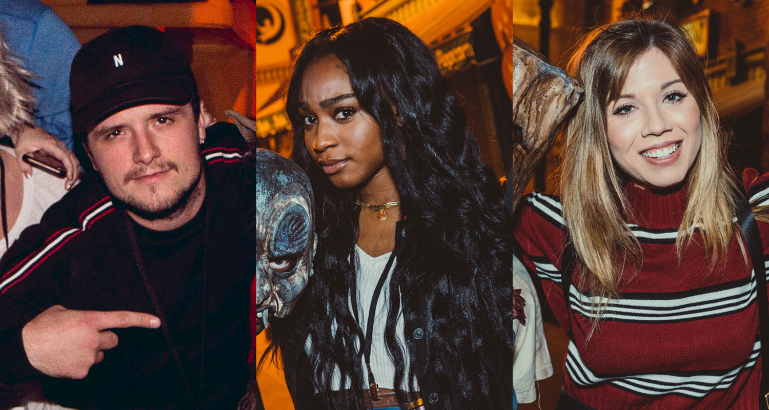 Josh Hutcherson, Normani, & Jennette McCurdy Get Spooked at Halloween Horror Nights!