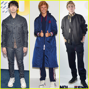 Joe Jonas, Ansel Elgort & Presley Gerber Show Their Style at 'Fendi Mania' Party!