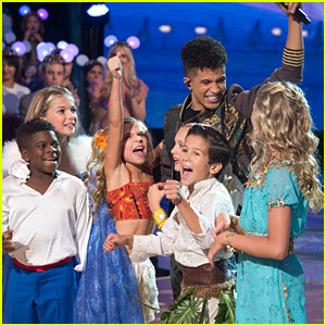 Jordan Fisher Celebrates All Things Disney on 'DWTS' With DWTS Juniors Pros - Watch His Performance Here!