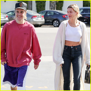 Justin Bieber & Hailey Baldwin Start Their Day at Patys!