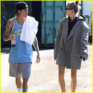 Justin Bieber & Hailey Baldwin Head Out to Grab Food in Studio City!