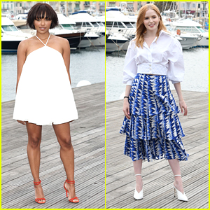 Kat Graham & Ellie Bamber Doll Up For MIPCOM 2018 Events
