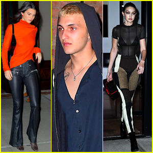 Kendall Jenner Joins Anwar Gigi Hadid For Night Out In Nyc Anwar Hadid Gigi Hadid Kendall Jenner Just Jared Jr