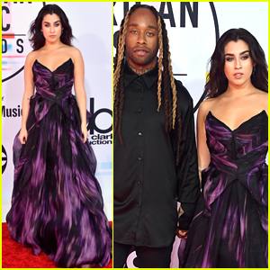 Lauren Jauregui & Boyfriend Ty Dolla Sign Hold Hands on AMAs 2018 Red Carpet!