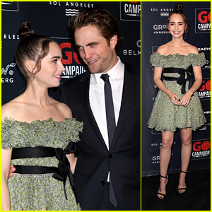 Lily Collins Glams Up in Green For GO Campaign Gala 2018