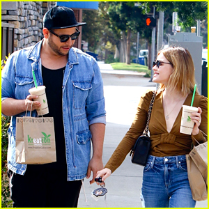Lucy Hale Goes Back to Blonde Before Lunching With Stylist Lo VonRumpf