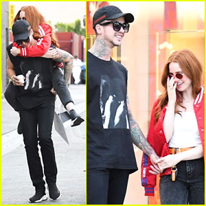 Madelaine Petsch Gets Piggyback Ride From Boyfriend Travis Mills While Out Shopping!