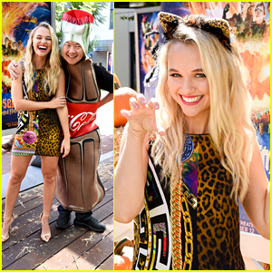 Madison Iseman Got a Kick Out of Ken Jeong's Coca-Cola Costume at the 'Goosebumps 2' Premiere